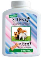 SLEEKY - สลิคกี้ วิตามินรวมและแคลเซียมสุนัข บำรุงร่างกายสุนัข รสเบคอน สำหรับหมาทุกพันธุ์ - ขวดกลาง 350 กรัม