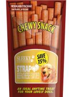 ขนมสุนัข SLEEKY ชิววี่สแน็ค รสเนื้อชีส (แบบแผ่น-ห่อใหญ่ 175 กรัม)