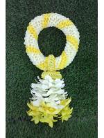 พวงมาลัยดอกไม้สด ขนาดพิเศษ รหัส 3510