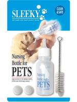 ชุดขวดนม (คอตรง) สำหรับลูกสุนัข พร้อมแปรงทำความสะอาด ยี่ห้อ SLEEKY ขนาดบรรจุ 50 ซีซี
