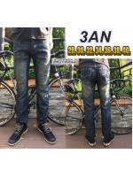 กางเกงยีนส์ผู้ชาย ขากระบอก ผ้าไม่ยืด ลงเทียน ฟอกสีสนิม ผ้าเนื้อดี มี SIZE 28 36