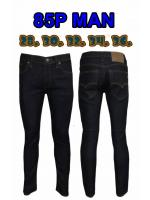กางเกงยีนส์ขาเดฟผู้ชาย ซิป สีดำยีนส์ ผ้ายืดน้อย มี SIZE 28,30,32,34,36