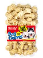 ขนมขัดฟันสุนัข SLEEKY หนังวัวขัดฟันหมารูปกระดูกผูก ขนาด 2.5 นิ้ว - แพ็คใหญ่