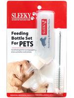 ชุดขวดนม (คอโค้ง) สำหรับลูกสุนัข พร้อมแปรงทำความสะอาด ยี่ห้อ SLEEKY ขนาดบรรจุ 60 ซีซี