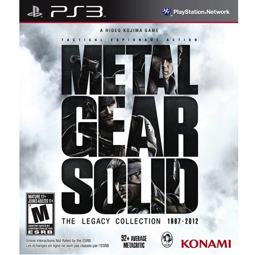 PS3: Metal Gear Solid : The Legacy Collection 1887-2012 (Z1) [ส่งฟรี EMS]