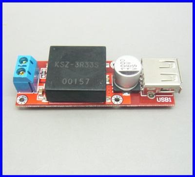 ดีซี คอนเวอร์เตอร์ ตัวแปลงไฟDCเป็นDC Buck Converter 7V-24V to 5V 3A USB output Voltage (สำหรับอุปกรณ์USB 5V 3Aทุกชนิด)