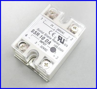โซลิดสเตตรีเลย์ 10A solid state relay SSR-10DA 10A actually 3-32VDC TO 24-380VAC