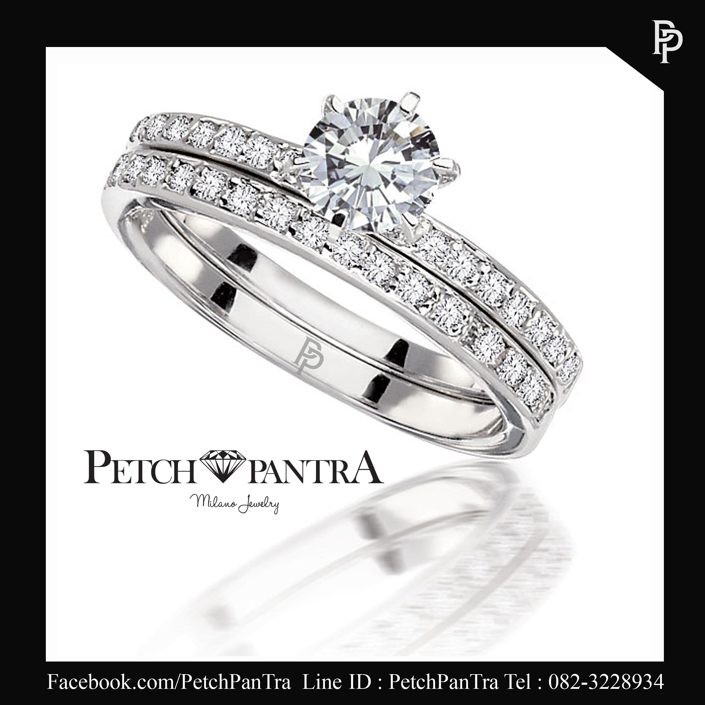 แหวนเพชรCZ แหวนคู่รัก แหวนเพชรรัสเซีย สำเนา