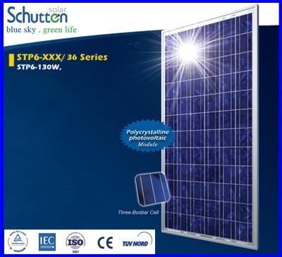 แผงโซล่าเซลล์ Schutten Solar Cell Poly-crystalline module 130W มาตราฐาน TUV IEC CE แผงโซล่าเซลล์อายุการใช้งานนาน 25 ปี