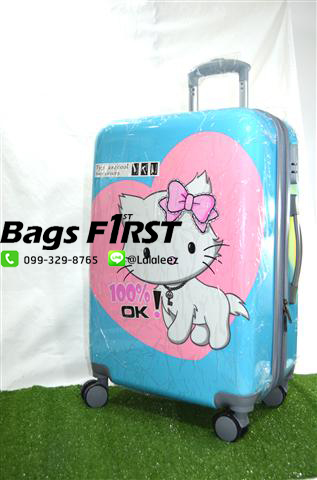 กระเป๋าเดินทางลายแมวเหมียว ขนาด 24 นิ้ว