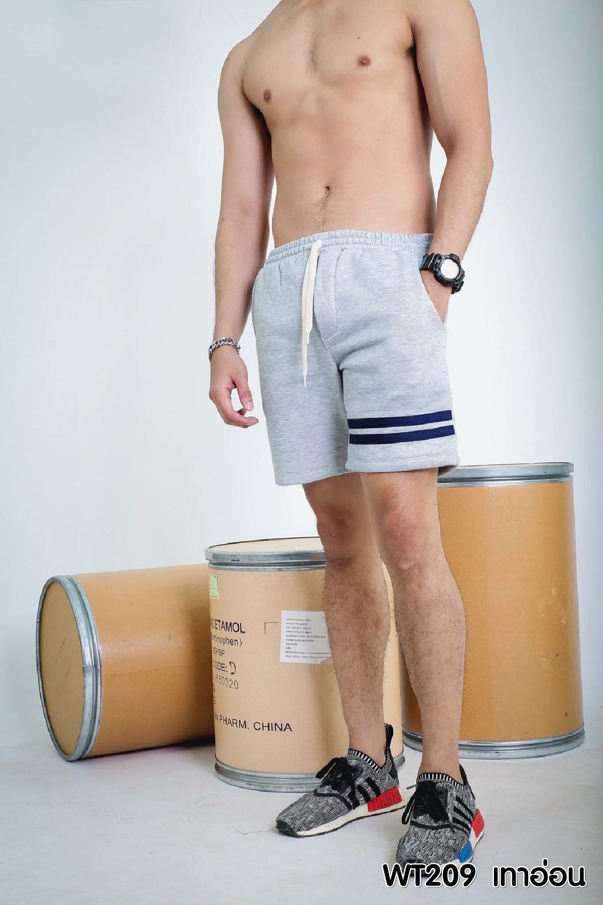 กางเกงขาสั้น รหัส WT209 BK สีเทาอ่อน