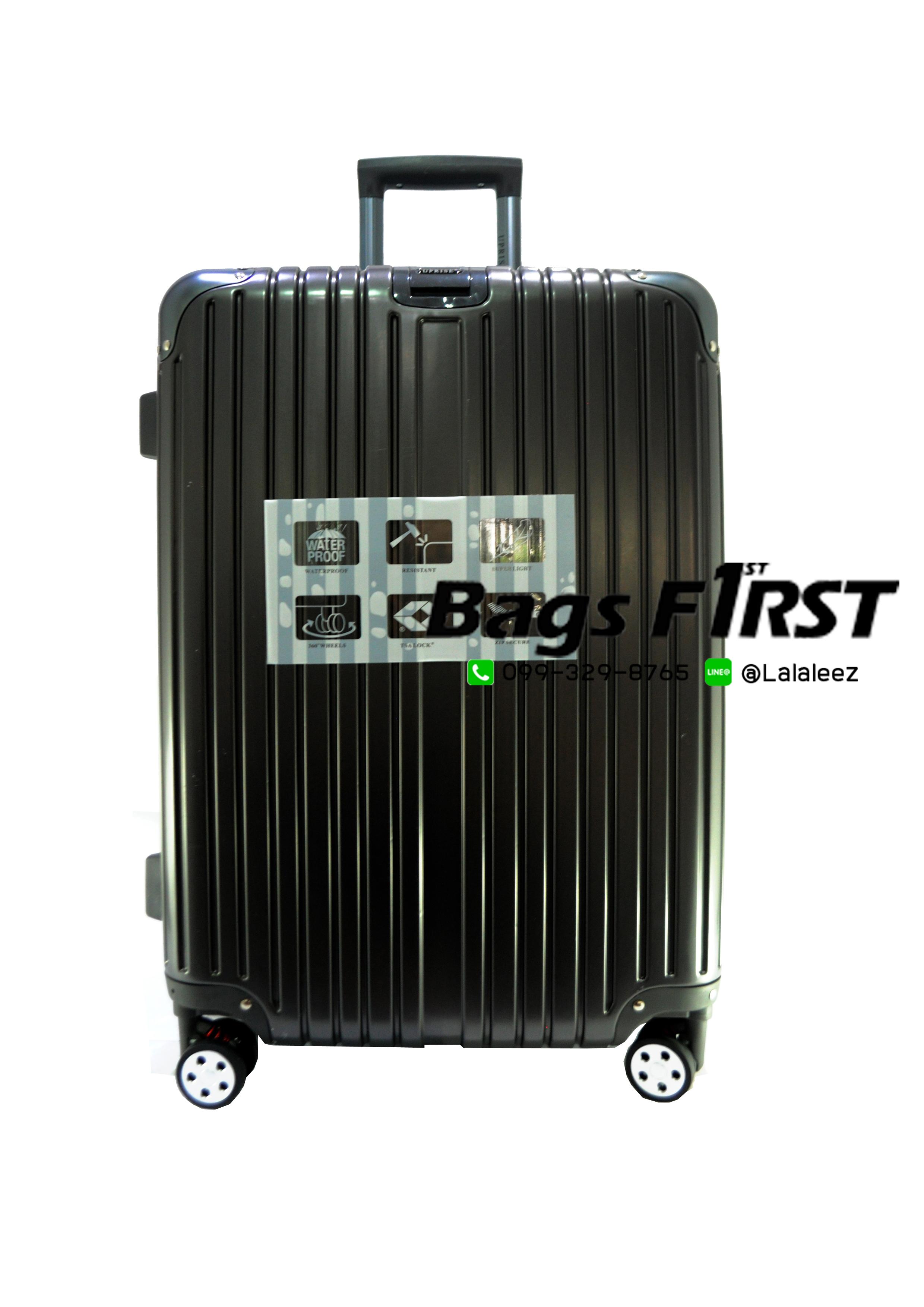 กระเป๋าเดินทาง รหัส 5507 สีเทา-ดำ ขนาด 20 นิ้ว