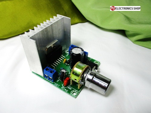 ภาคขยายเสียง ระบบ สเตอริโอ ขนาด 30 watts RMS ( 15+15 วัตต์ ) ใช้ไฟดีซี 12 โวลต์