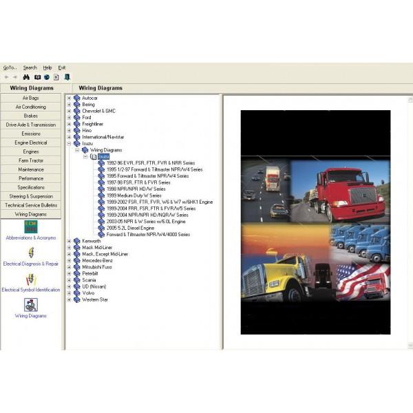โปรแกรมรวม คู่มือซ่อมทั้งคันและWIRING DIAGRAM รถบรรทุกและรถจักรกลหนัก