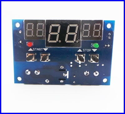 รีเลย์ควบคุมอุณหภูมิ DC 9V-15V Intelligent Digital LED Thermostat Temperature Controller