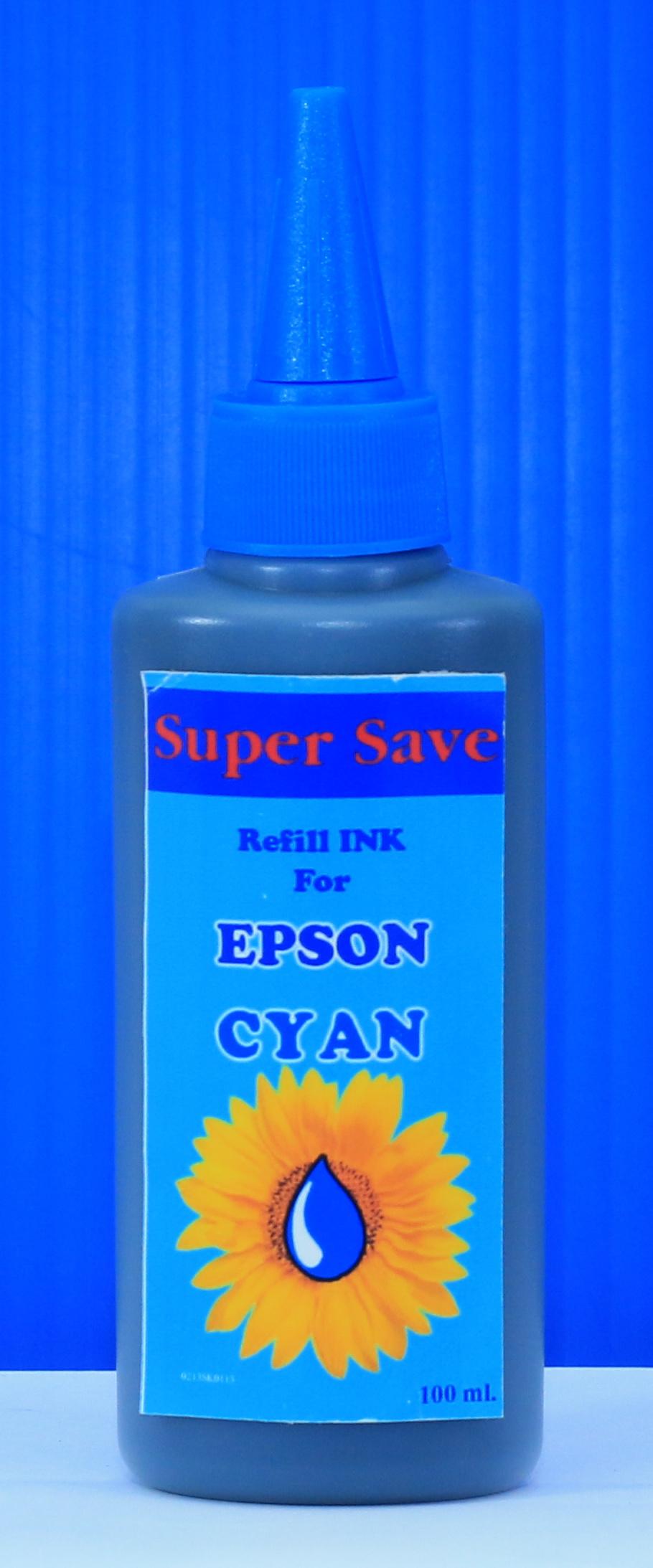 """น้ำหมึก Super Save 100 cc for EPSON """"CYAN"""""""