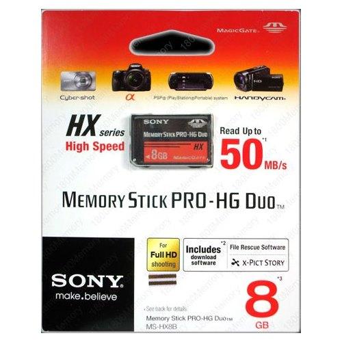 Sony Memory Stick Pro-HG Duo HX 8G