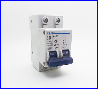 เซอร์กิตเบรกเกอร์ อุปกรณ์ป้องกันไฟฟ้า YIJIN 2P 63A DC 440V Circuit breaker ผ่านมาตราฐาน IEC60898 (เทียบเท่า IEC947.2)