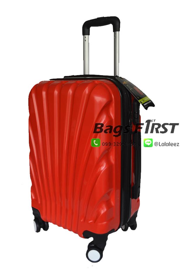 """กระเป๋าเดินทางล้อลาก เนื้อ PC สีแดง ขนาด 28 """""""