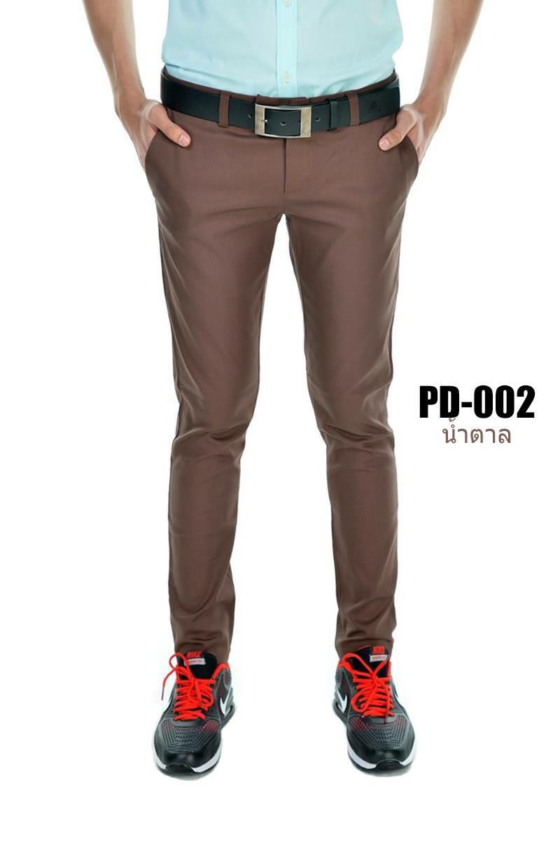 กางเกงขายาว รุ่น PD-002 (สีน้ำตาล)