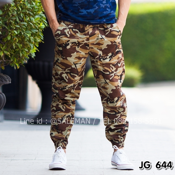 กางเกง jogger ลายทหาร JG644