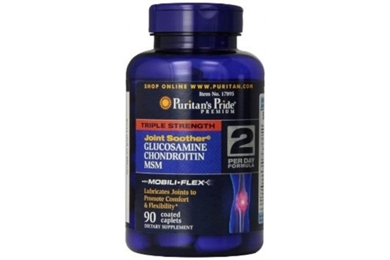 Puritan's Pride Triple Strength Joint soother Glucosamine Chondroitin MSM 90 เม็ด วิตามินบำรุงข้อจากอเมริกาค่ะ มีครบทั้ง 3 ตัวที่คนปวดข้อต้องการ