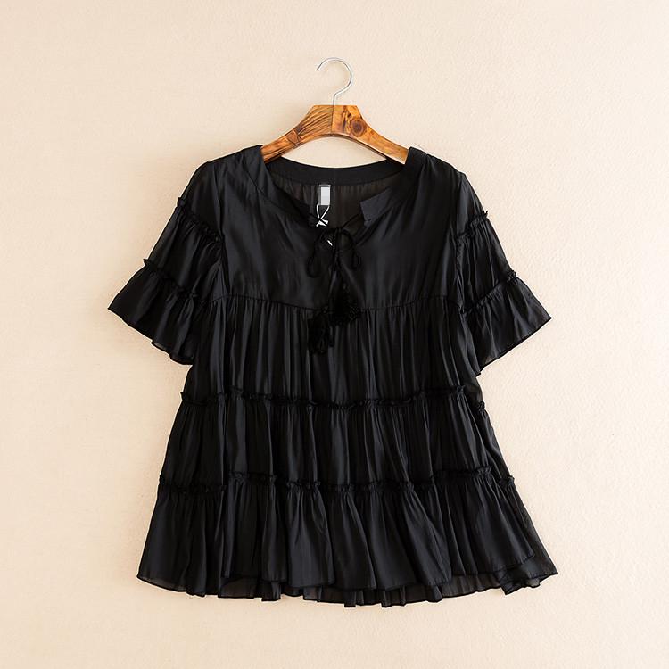 เสื้อชีฟองสีดำ