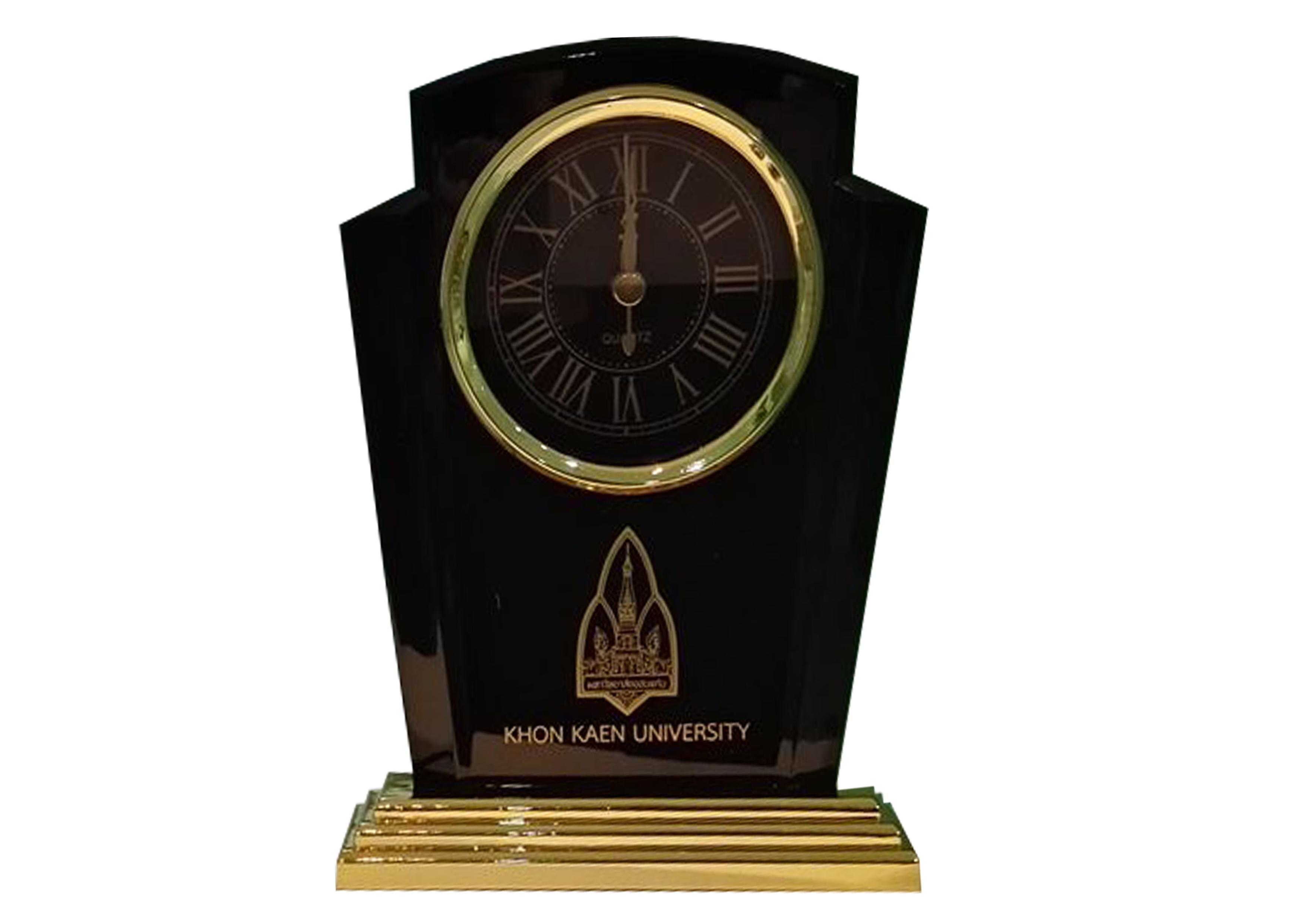 นาฬิกาตั้งโต๊ะเรือนดำ-ใส