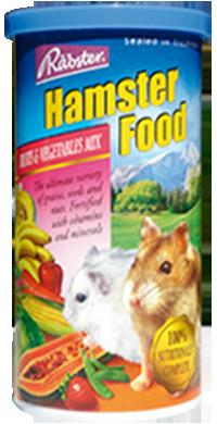 อาหารหนูแฮมสเตอร์ทุกพันธุ์ ยี่ห้อ Rabster สูตรผสมผักและผลไม้ - ขนาด 200 กรัม