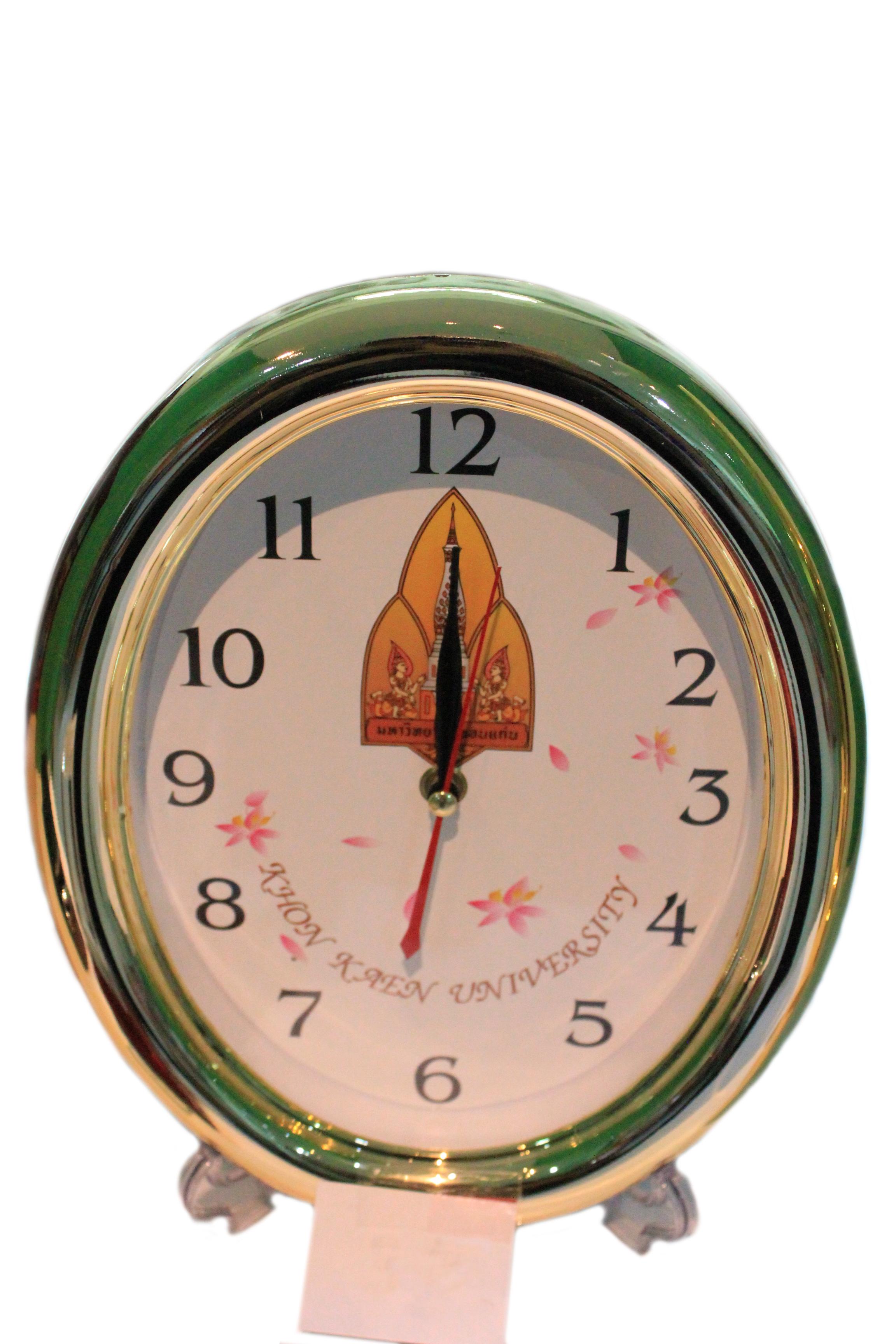 นาฬิกาแขวนรูปไข่ สีทอง