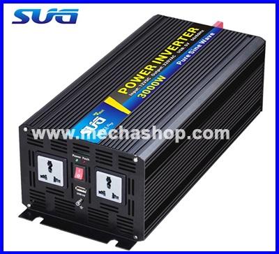 อินเวอร์เตอร์ โซล่าเซลล์ SUG Inverter 3000W Pure Sine Wave Inverter 6000W Peak Power เครื่องแปลงไฟ 24VDC เป็นไฟฟ้าบ้าน 220VAC/50Hz (สินค้าPre-Order)