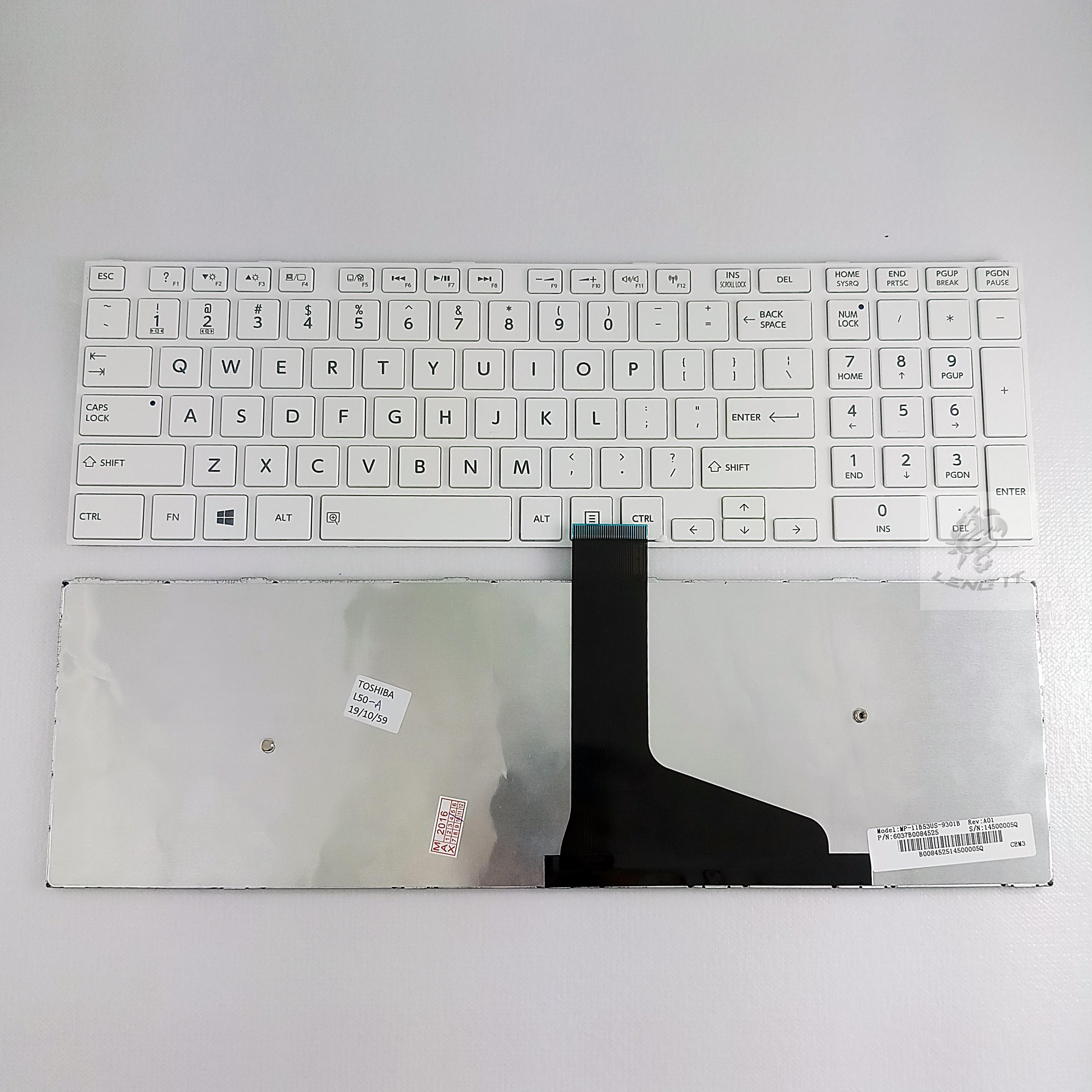 KEYBOARD TOSHIBA L50-A สีขาว