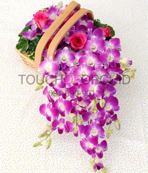 กระเช้าดอกไม้ Anna Basket รหัส 2011