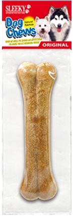 ขนมขัดฟันสุนัข SLEEKY หนังวัวขัดฟันหมาอัดรูปทรงกระดูก ขนาด 6.5 นิ้ว - แพคเดี่ยว