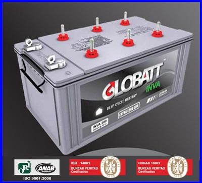 Globatt INVA แบตเตอรี่สำหรับเก็บพลังงานแสงอาทิตย์ ชนิด Deep Cycle เกรดระดับพรีเมี่ยม จ่ายกระแสไฟ (CCA) ได้สูงกว่าแบตเตอรี่ทั่วไป Globatt INVA 150AH