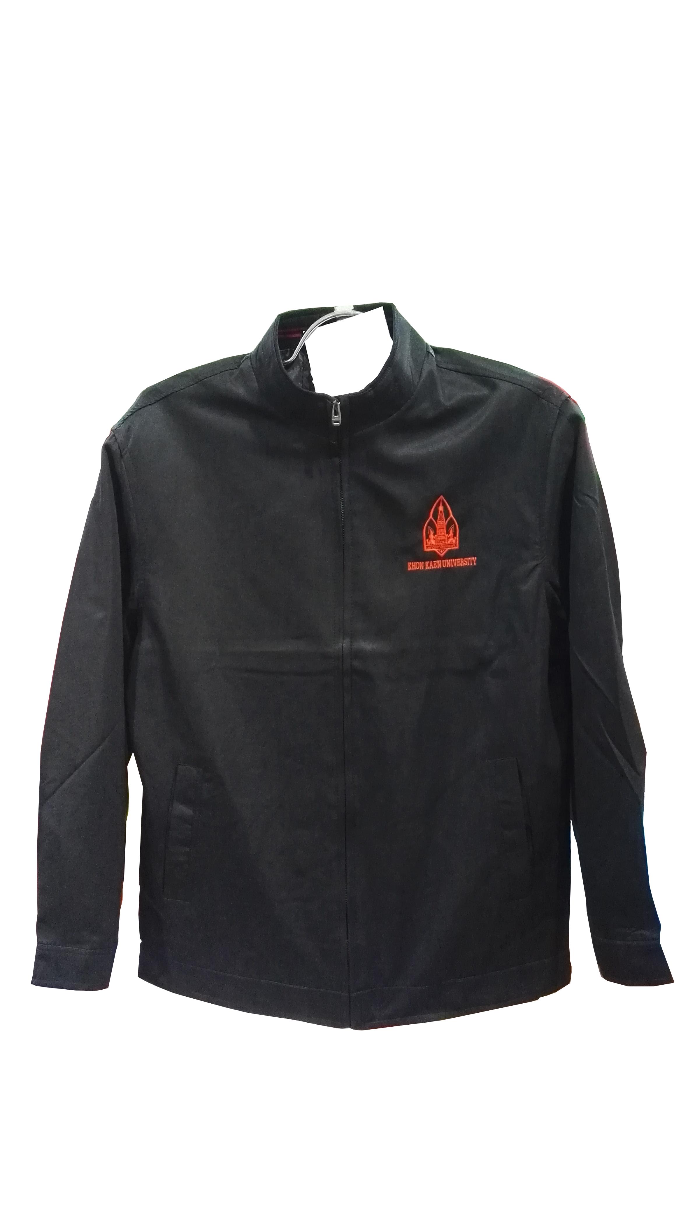 เสื้อแจ็คเก็ตคอจีนสีดำ Size L
