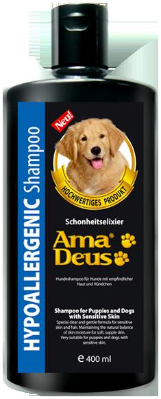 Amadeus - แชมพูสำหรับสุนัขผิวแพ้ง่ายและลูกสุนัข (400 มล.)