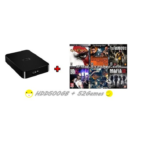 External HDD 500GB + Games PS3 Vol.1(CFW3.55+) [ส่งฟรี EMS]
