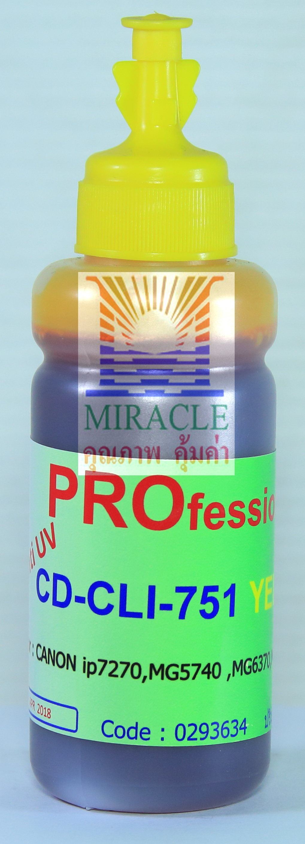 CD-CLI751Y REFILL INK MIRACLE PRO 100 cc CANON YELLOW