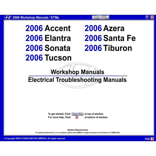 รวมคู่มือซ่อมและ WIRING DIAGRAM HYUNDIA 7 รุ่น ปี 2006 (EN)