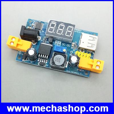 ดีซี คอนเวอร์เตอร์ ตัวแปลงไฟDCเป็นDC Converter Step Down Input 4.5-40V to 1.25-37V Output Voltage USB port (สำหรับอุปกรณ์ 3Aทุกชนิด)