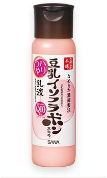 sana nameraka honpo Q10 milk lotion ครีมบำรุงน้ำนมถั่วเหลือง เนื้อบางเบา ช่วยให้ผิวเนียนนุ่ม น่าสัมผัส และไม่มีส่วนผสมของน้ำหอม ขนาด 150 ml.