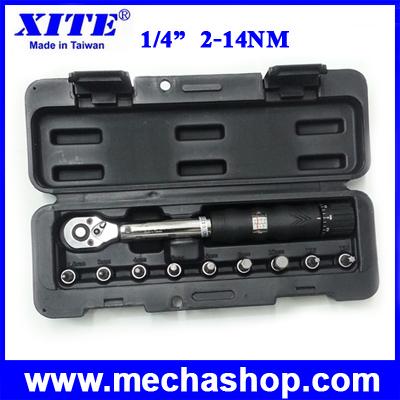 ประแจบล๊อค เครื่องมือช่าง ชุดบล๊อค ประแจ 1/4inch 2-14Nm WISRET torque wrench (ประแจซ่อมจักรยาน)