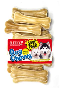 ขนมขัดฟันสุนัข SLEEKY หนังวัวขัดฟันหมา รูปกระดูกอัดแท่ง ขนาด 4 นิ้ว - แพ็คใหญ่