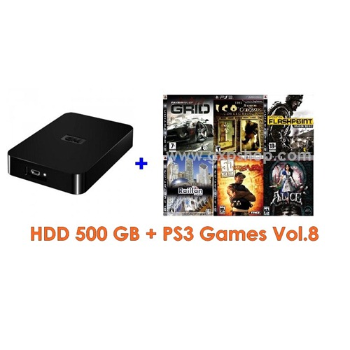 External HDD 500GB + Games PS3 Vol.8 (CFW3.55+) [ส่งฟรี EMS]