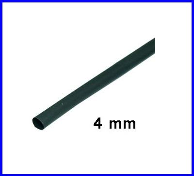 ท่อหด ท่อหุ้มสายไฟคุณภาพ4มม.KUHS 225 TW สีดำ ความยาว1เมตร