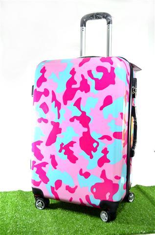 กระเป๋าเดินทางล้อลาก ลายพรางชมพู ขนาด24 นิ้ว