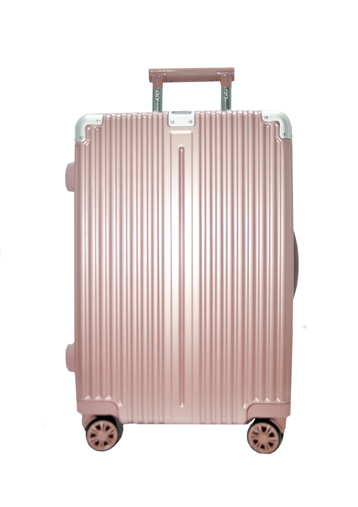 กระเป๋าเดินทางรหัส 1240 ขนาด 24 นิ้ว สีชมพู