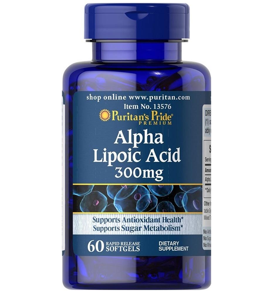 Puritan's Pride Alpha Lipoic Acid 300 mg. 60 เม็ด สุดยอดวิตามินต่อต้านอนุมูลอิสระ จากอเมริกาค่ะ