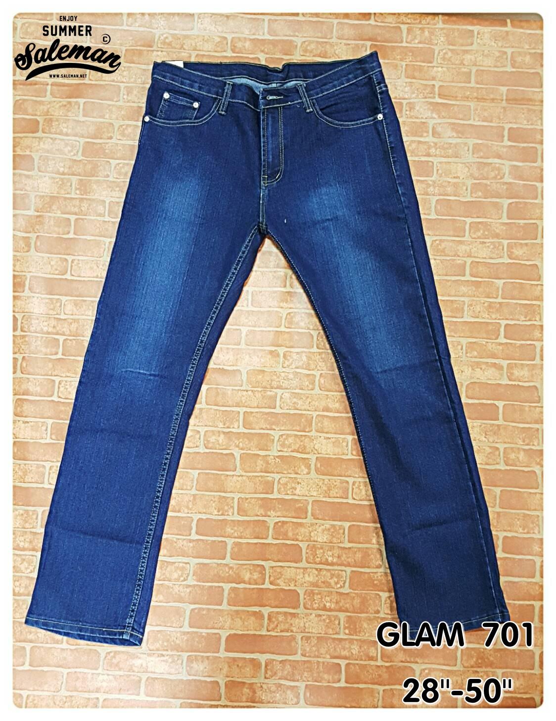 GLAM 701 กางเกงยีนส์ขายาว ขายกางเกง กางเกงคนอ้วน เสื้อผ้าคนอ้วน กางเกงขายาว กางเกงเอวใหญ่